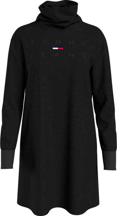 Tommy Jeans Jerseykleid »TJW MOCK NECK LOGO DRESS« mit gesticktem Tommy Jeans Logo-Schriftzug Ton in Ton & Flag