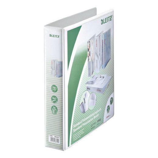 LEITZ Präsentationsringbuch 4 Ringe, A4 Maxi, Rückenbreite 63 mm »4286«