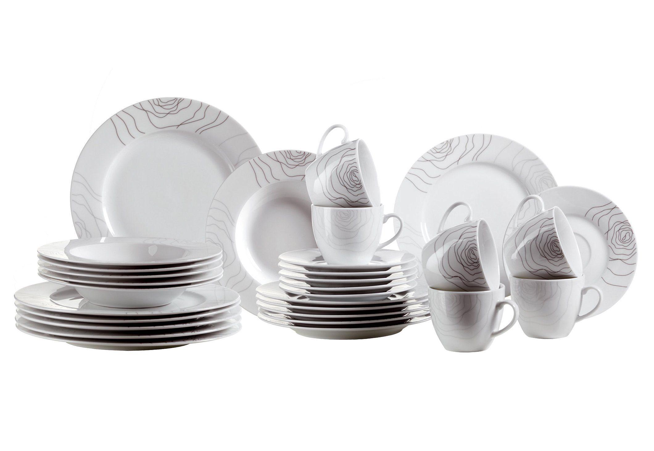 Domestic Kombiservice, Porzellan, »ELISSO« (30-teilig)