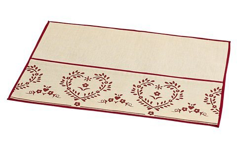 heine home Platzset, 4er-Set in beige/rot
