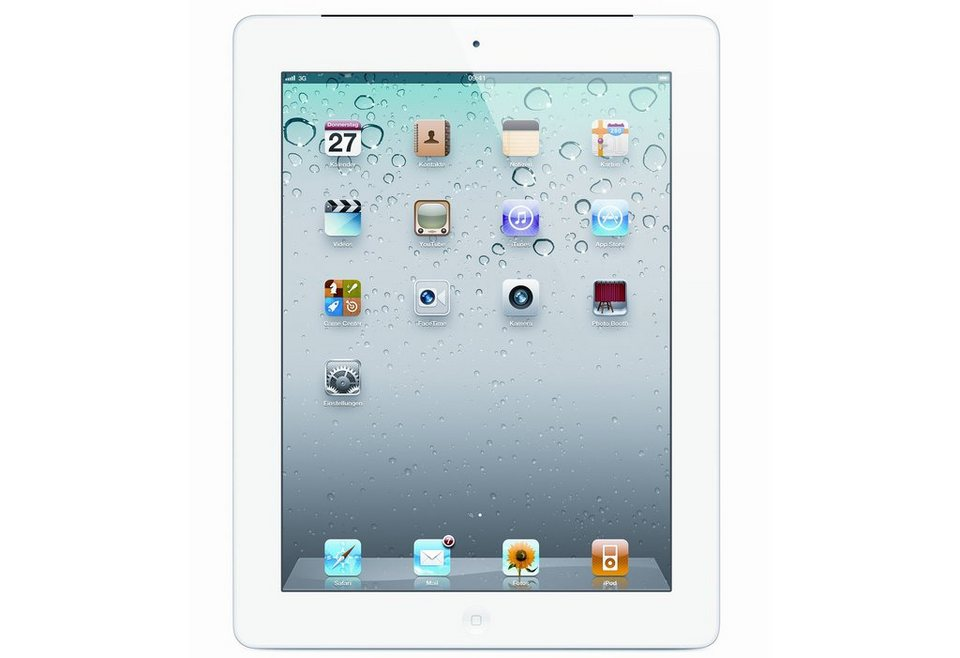 Apple iPad2 weiß, 16GB, Wifi Tablet PC, 24,63 cm (9,7 Zoll) in weiß