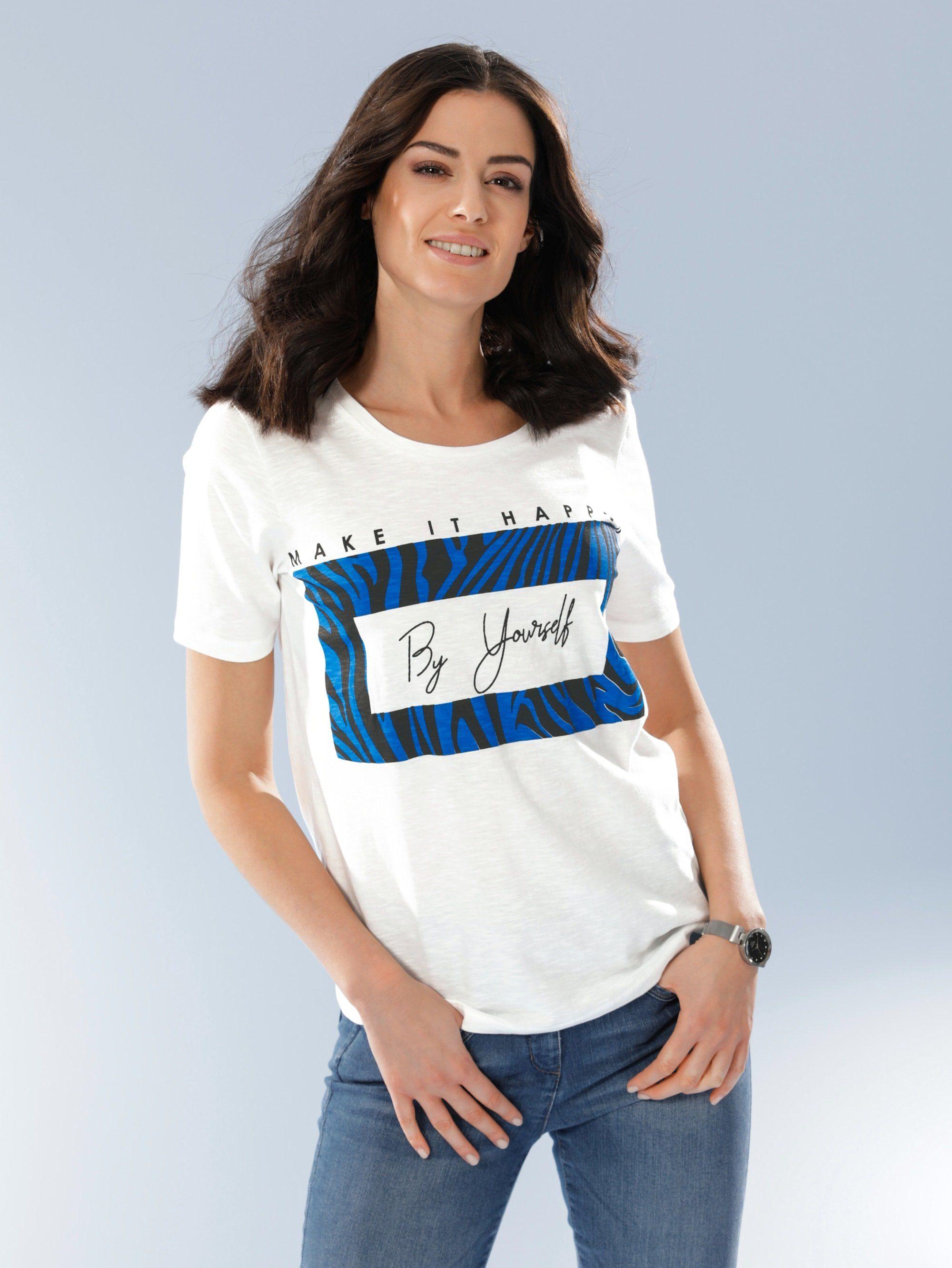 Dress In Shirt mit modernem Druck, Aus reiner Baumwolle