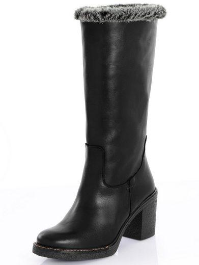 Alba Moda Stiefel mit Kunstfell am Schaftrand