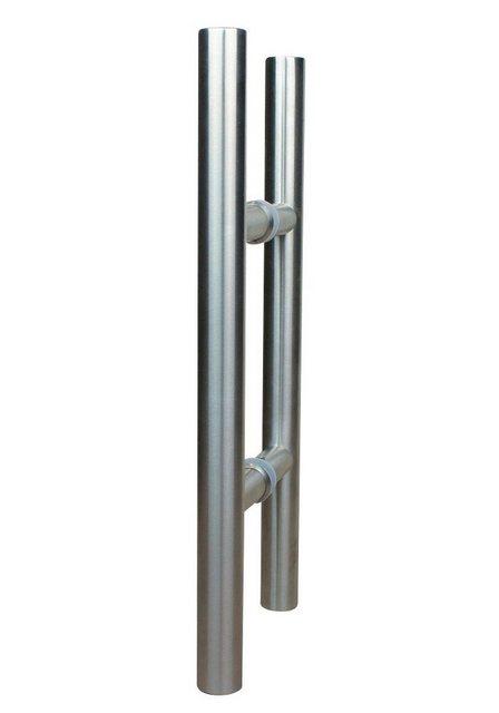 Dorma Glasschiebetür Agile 50 4 Streifen mit Stangengriff, weiß