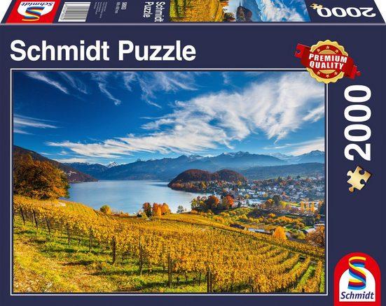 Schmidt Spiele Puzzle »Weinberge«, 2000 Puzzleteile