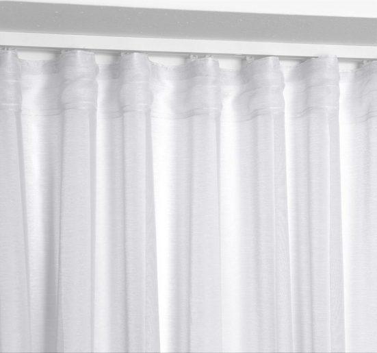 Gardine »Transparente Gardine Dolly, wählbar mit Kräusel- und Ösen- Aufhängung (Farbe + Größe wählbar)«, Beautex, Ösen (2 Stück)