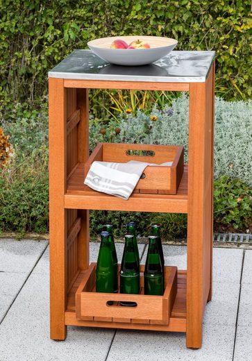 MERXX Gartentisch »Spültisch Sideboard«, Eukalyptus, 46x 56 cm, braun