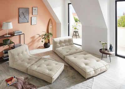 my home Sessel »Caspar«, Loungesessel in 2 Größen, mit Schlaffunktion und Pouf-Funktion.