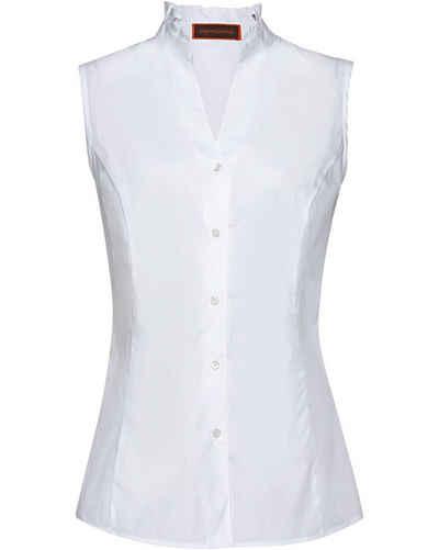 Reitmayer Trachtenbluse »Ärmellose Bluse mit Rüschen«
