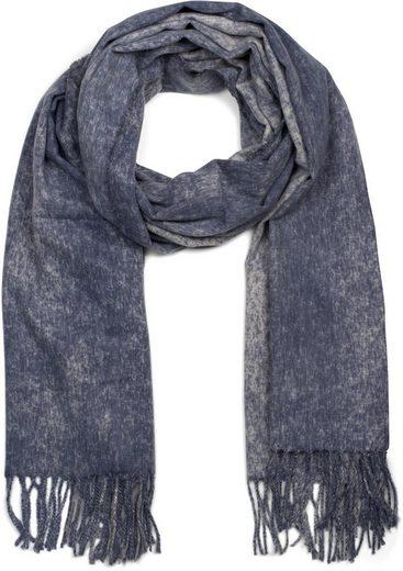 styleBREAKER Schal »Weicher melierter Schal mit Fransen« Weicher melierter Schal mit Fransen