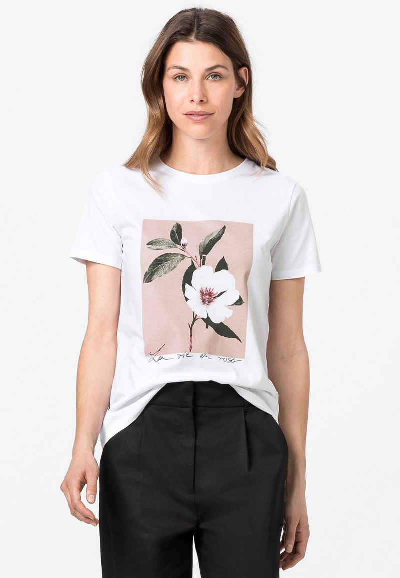 HALLHUBER Longshirt »aus Bio-Baumwolle mit Blütenmotiv«