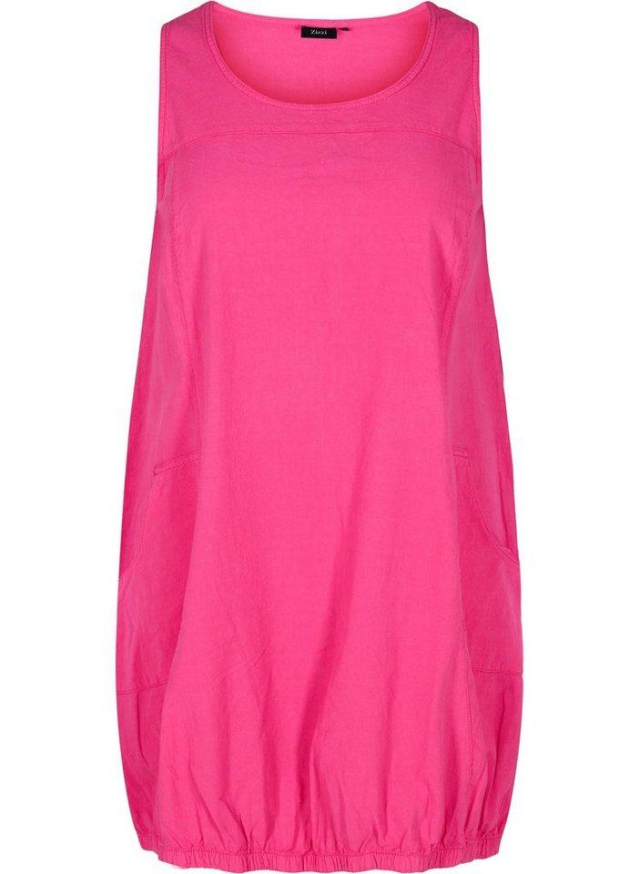 zizzi -  Ballonkleid Große Größen Damen Ärmelloses Kleid aus Baumwolle mit Taschen