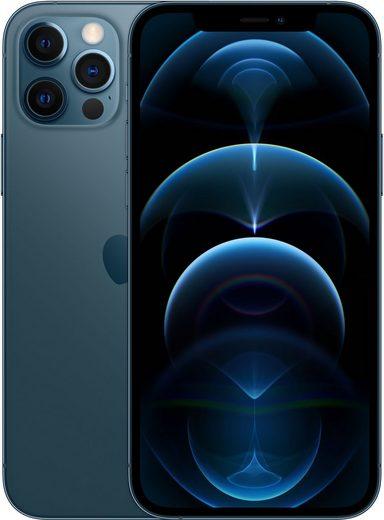 Apple iPhone 12 Pro Smartphone (15,5 cm/6,1 Zoll, 128 GB Speicherplatz, 12 MP Kamera, ohna Strom Adapter, kompatibel mit AirPods, AirPods Pro, Earpods Kopfhörer)