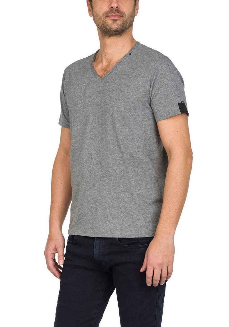 Replay T-Shirt offenen Kanten