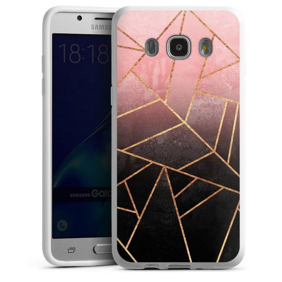 DeinDesign Handyhülle »Pink And Black Stone« Samsung ...