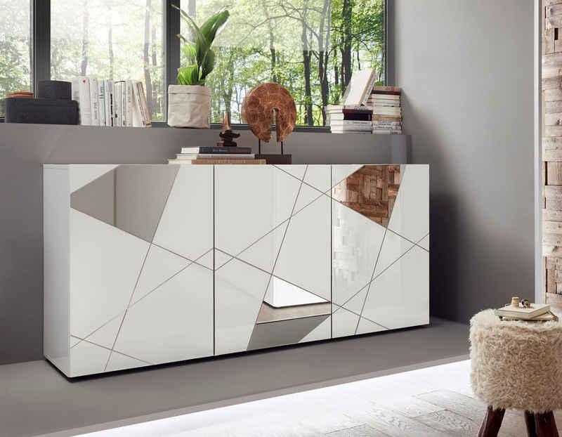 LC Sideboard »Vittoria Sideboard«, Breite 181 cm, Front mit Siebdruck und Spiegel