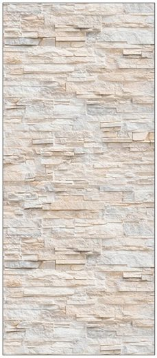MYSPOTTI Duschrückwand »fresh F2 Bruchsteinwand Beige«, 90 x 210 cm