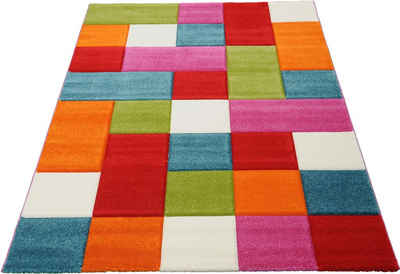 Teppich »GENIL«, merinos, rechteckig, Höhe 13 mm, handgearbeiteter Konturenschnitt, Wohnzimmer