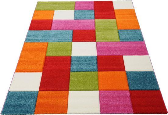 Teppich »GENIL«, merinos, rechteckig, Höhe 13 mm, handgearbeiteter Konturenschnitt