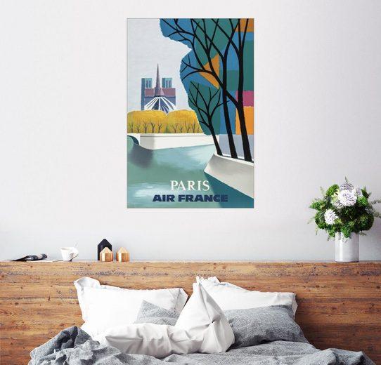 Posterlounge Wandbild, Premium-Poster Paris, Air France