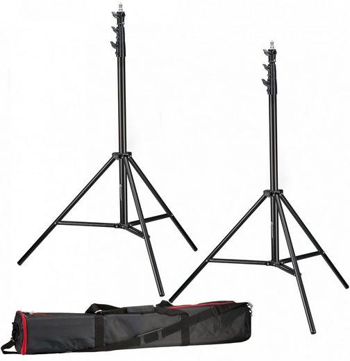 BRESSER Lampenstativ »2x BR-TP280 PRO-1 Stativ (280 cm) + Tasche«