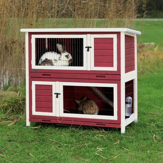 TRIXIE Kleintierstall »Kaninchenstall rot weiß«
