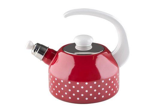 Riess Wasserkessel »Flötenkessel 2 Liter Pünktchen«, Premium-Email, Empfohlen bei Nickelallergie