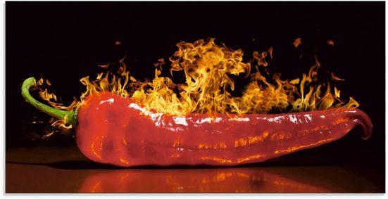 Artland Glasbild »Roter scharfer Chilipfeffer«, Lebensmittel (1 Stück)