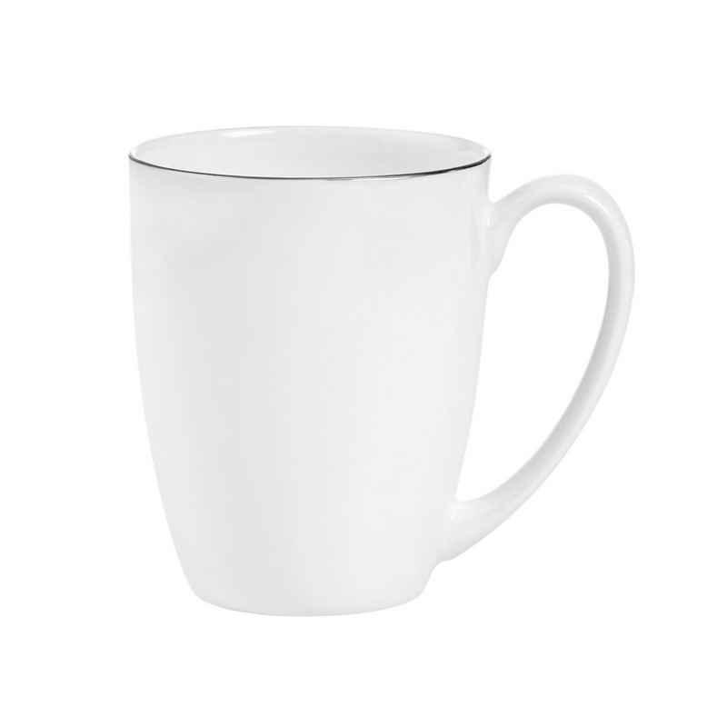 BUTLERS Tasse »SILVER LINING Tasse mit Henkel«, Fine Bone China Porzellan mit Silberrand