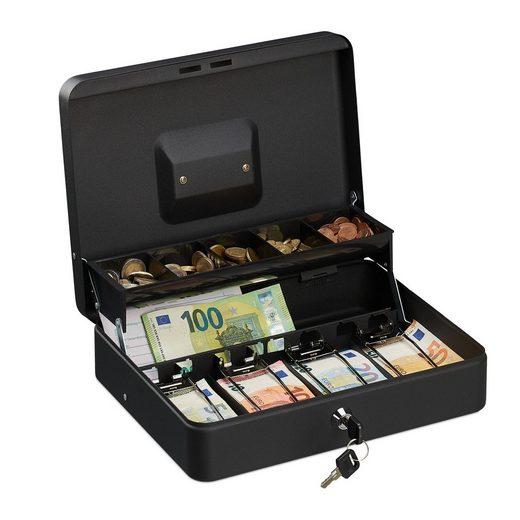 relaxdays Geldkassette »Abschließbare Geldkassette«