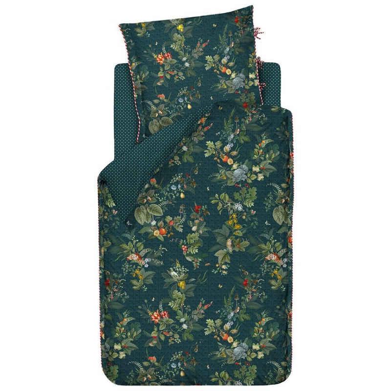 Bettwäsche »Fall in Leaf Dunkelblau; Bettbezug in floralem Design mit Blättermotiv; Wendebettwäsche«, PiP Studio