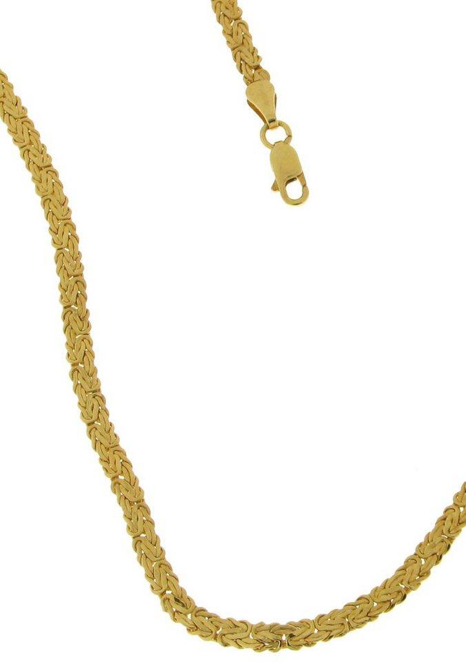 firetti Halsschmuck: Halskette in Königskettengliederung, bombiert in Gold 585