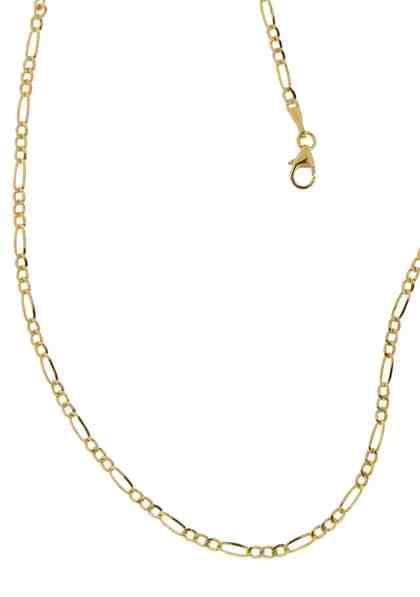 Firetti Goldkette »in Figarokettengliederung« 2-fach diamantiert / poliert / halbmassiv
