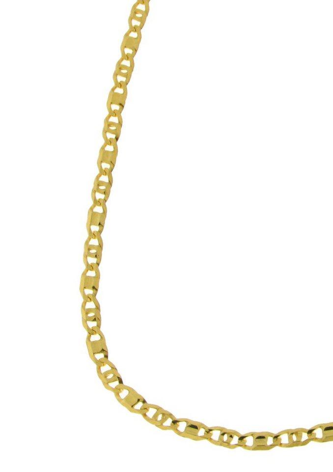 firetti Armschmuck: Armband in Tigeraugenkettengliederung, diamantiert in Gelbgold 375