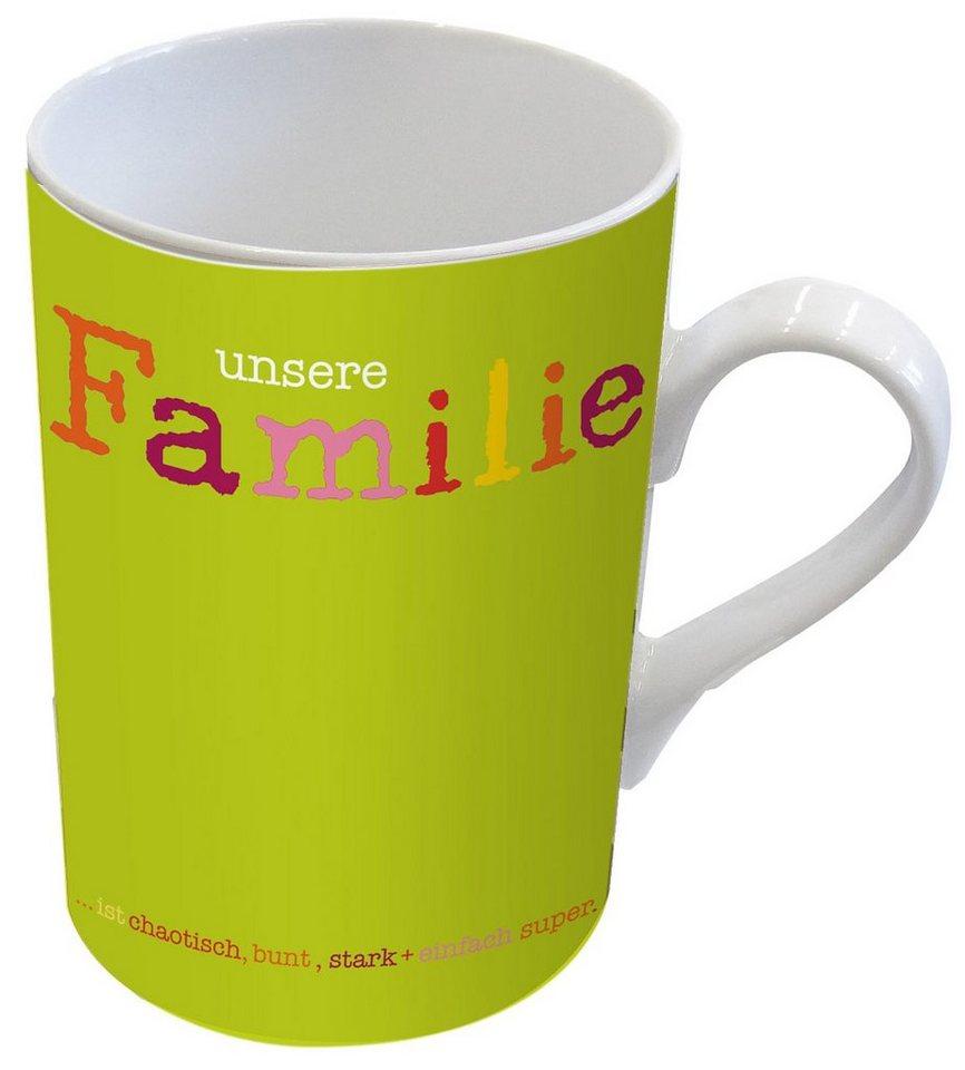 Design@Home Porzellantasse Familie in Bunt