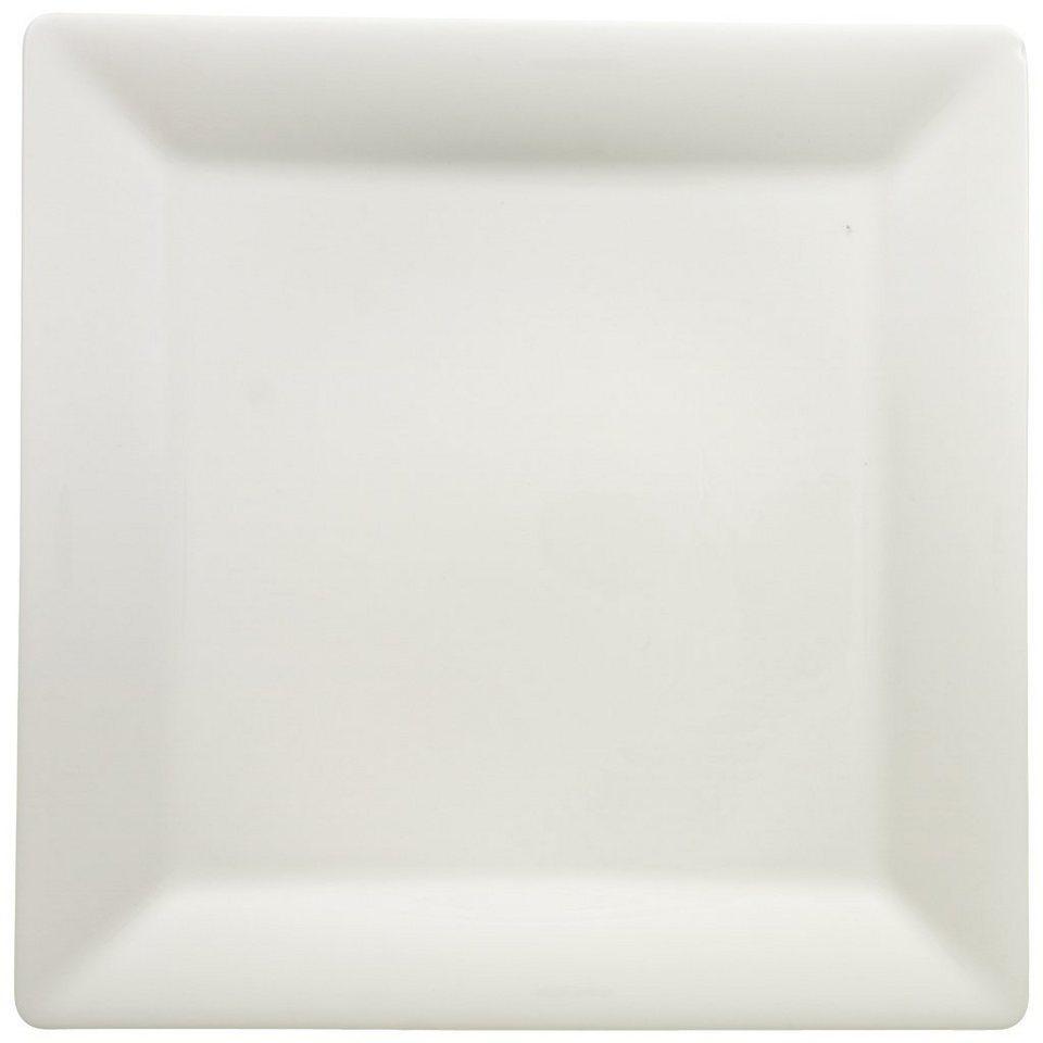 VILLEROY & BOCH Platzteller quadratisch 32x32cm »Pi Carré« in Weiss