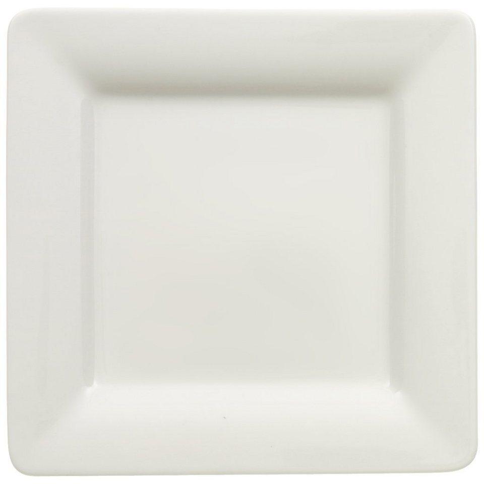VILLEROY & BOCH Teller flach quadratisch 16x16cm »Pi Carré« in Weiss
