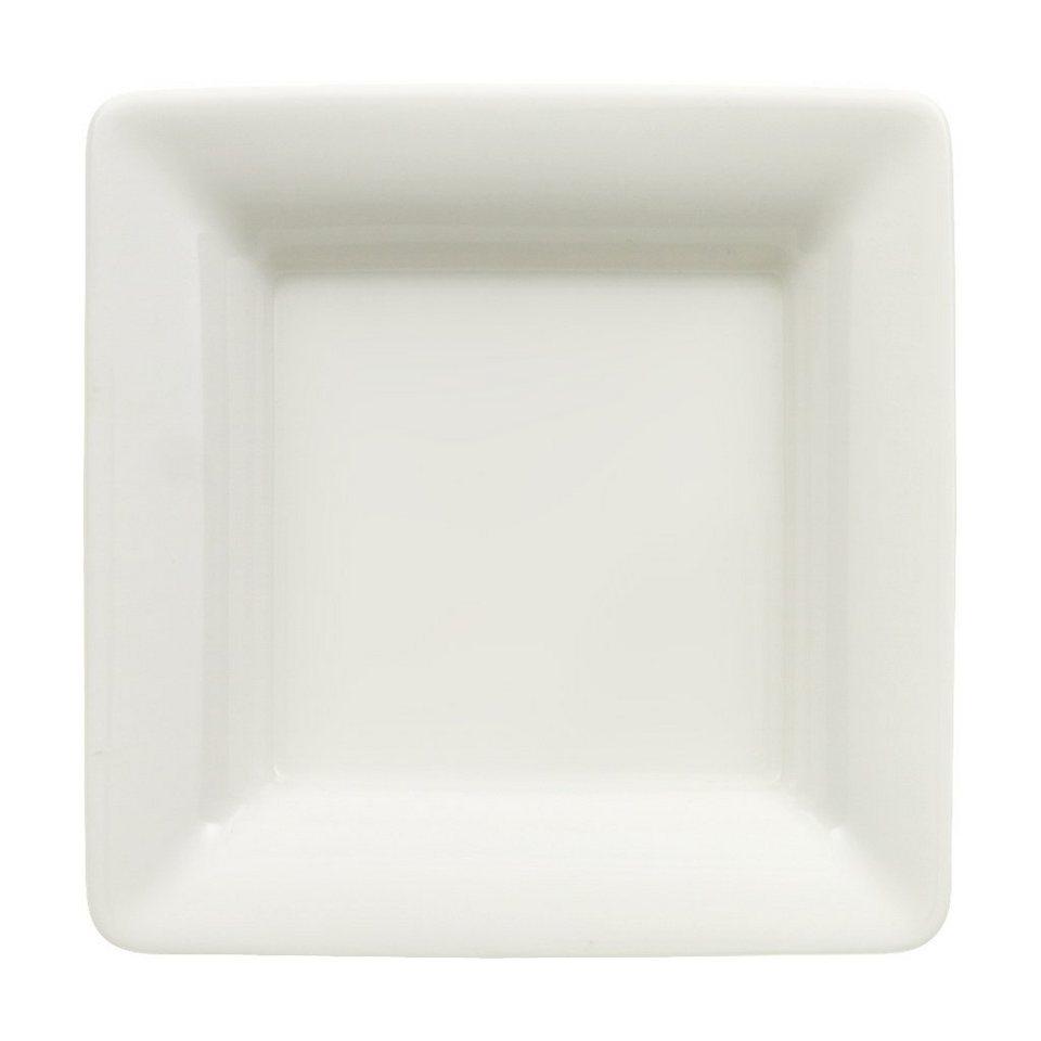 VILLEROY & BOCH Schälchen flach quadratisch 9x9cm »Pi Carré« in Weiss