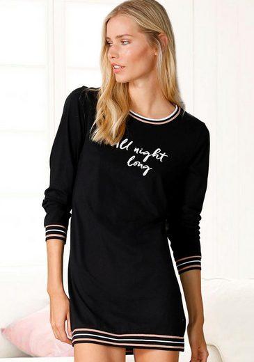 s.Oliver Bodywear Nachthemd mit Rippstrickbündchen