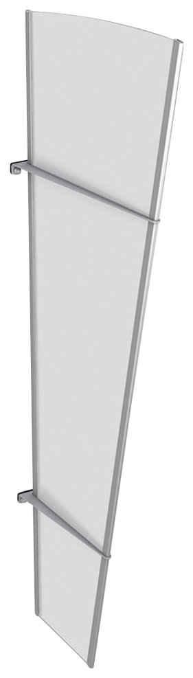 GUTTA Seitenblende »L Edelstahl«, TxH: 32-62x167 cm, weiß satiniert