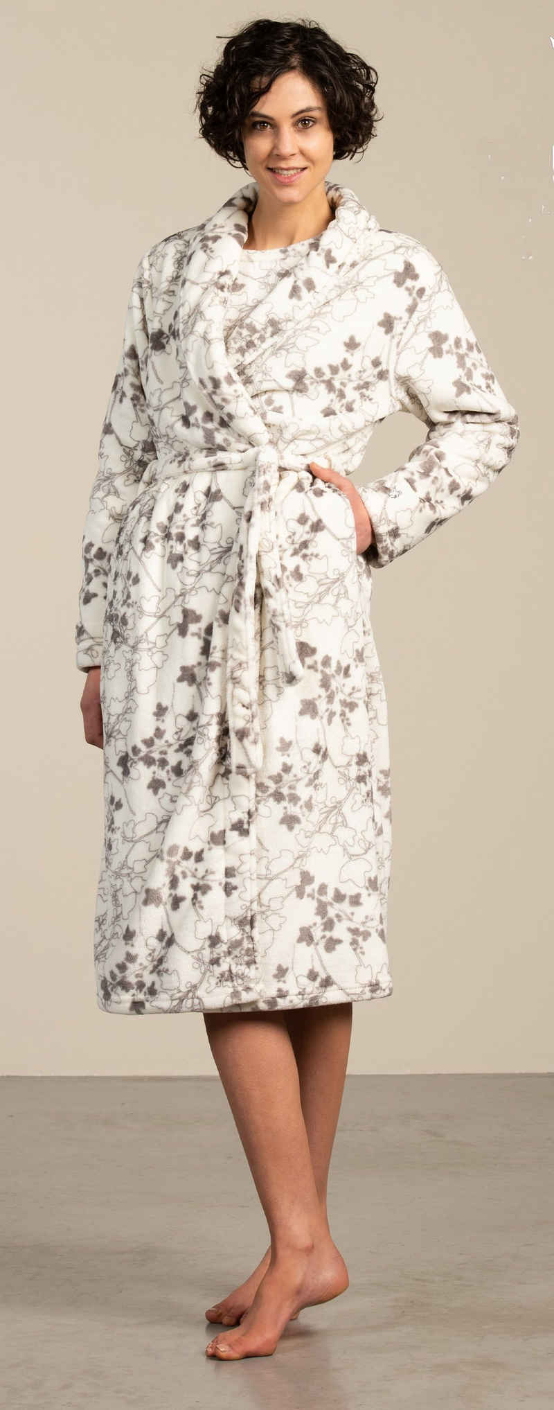 Damenbademantel »Eskimo Damen Fleece Bademantel«, Eskimo, Fleece Qualität