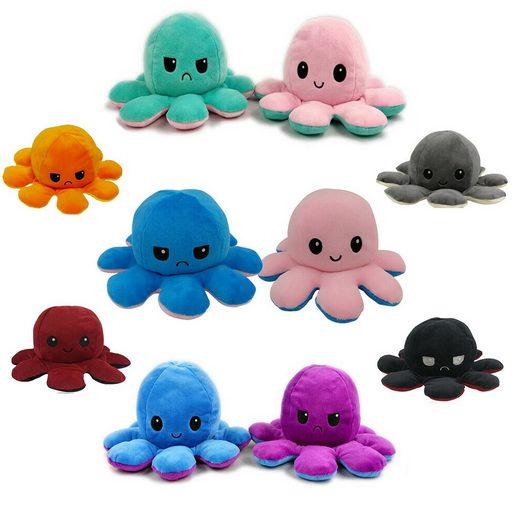 cofi1453 Kuscheltier »Wende-Oktopus Octopus Plüschtier Doppelseitiges Kuscheltier Krake Tintenfisch Kinderspielzeug Geschenk Wendepuppe«