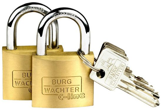 Burg Wächter Vorhängeschloss »Duo 222 40 SB«, (Set, 2-tlg)