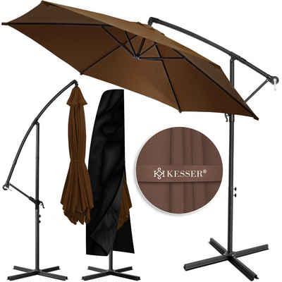 KESSER Ampelschirm, Alu Sonnenschirm Ampelschirm Marktschirm Gartenschirm ALU Ø300cm-350cm, UV -Schutz, Aluminium, wasserabweisende Bespannung