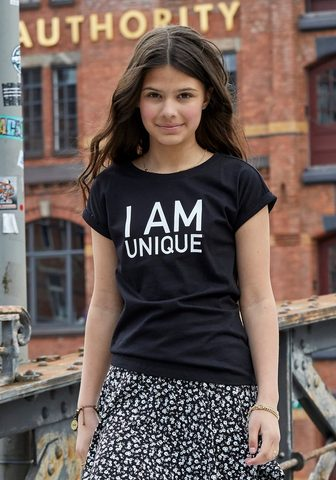 KIDSWORLD Marškinėliai »I ant UNIQUE« legere Pas...