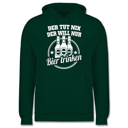 Shirtracer Hoodie »Der tut nix der will nur Bier trinken - Männer Premium Kapuzenpullover«