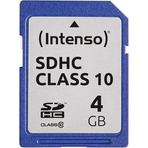 Intenso »Secure Digital SDHC Card 4 GB, Class 10« Speicherkarte