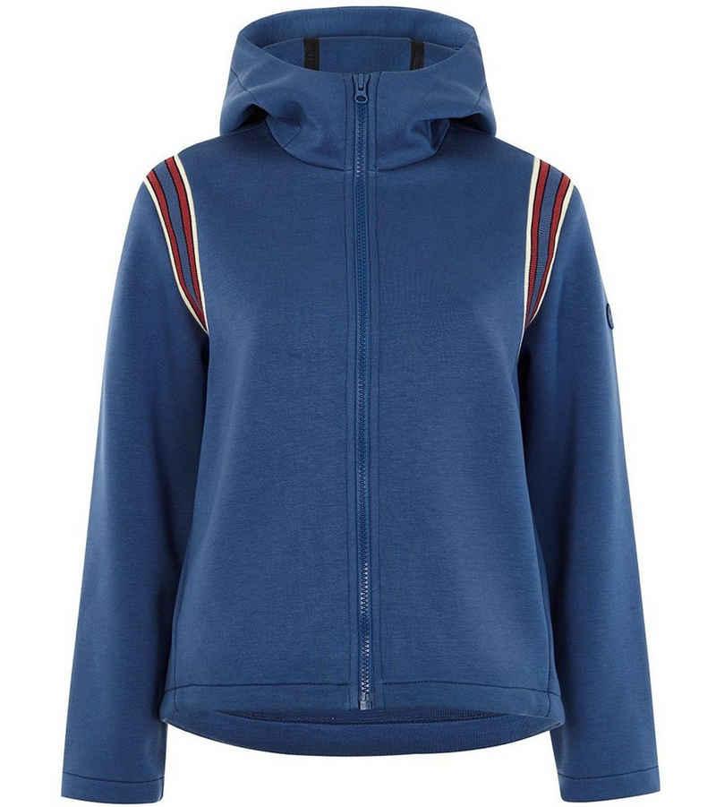 LangerChen Outdoorjacke »LANGERCHEN Yass Kapuzen-Jacke schöne Damen Sport-Jacke Freizeit-Jacke mit seitlichen Eingrifftaschen Blau«