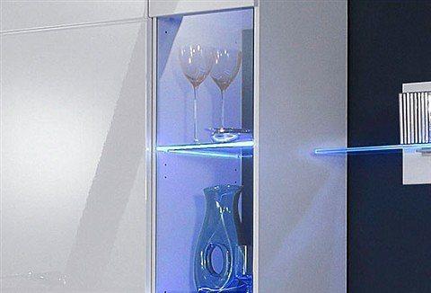 LED-Glaskantenbeleuchtung, HLT in blau