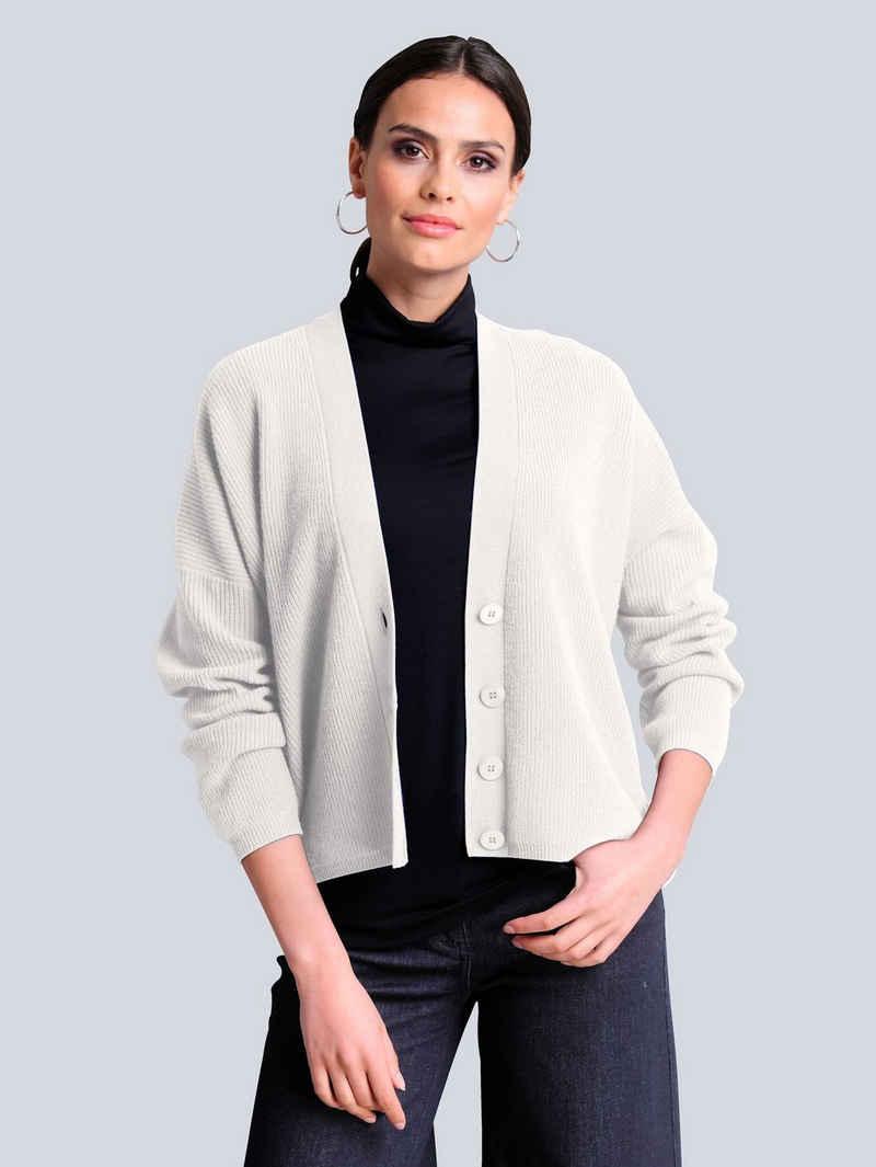 Alba Moda Strickjacke aus hochwertiger reiner Kaschmirqualität